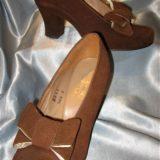 Australian Vintage 1940s suede shoes