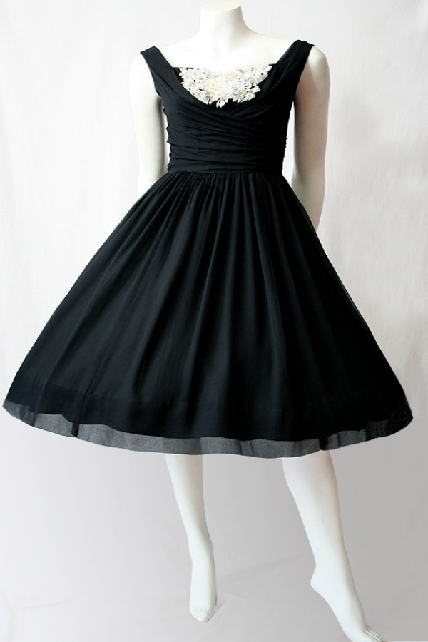 1950s black 1950s little black dress