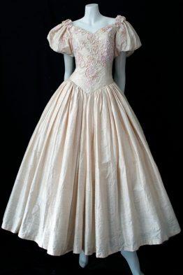 1980s Gardams silk dress