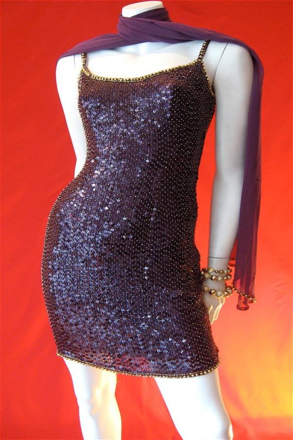 1980s sequinned mini dress