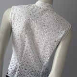 Vintage 1950s broderie anglaise cotton blouse