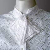 1950s vintage top showing neck tie.