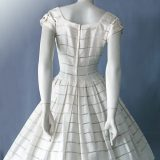 Original 1950s vintage Swiss cotton day dress back