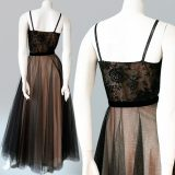 1950s Baker of Melbourne formal dress back