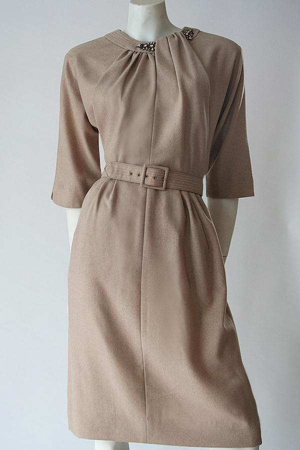 50s Carlye fawn dress 600×900