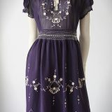 1930s Hungarian embroidered dress