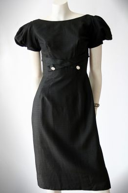 Vintage 50s little black cocktail dress