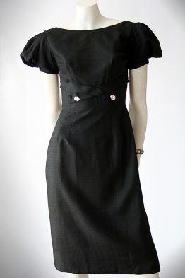 Vintage 50s little black cocktail dress