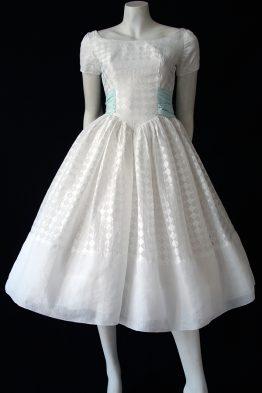 1950s Emma Domb organdy prom dress