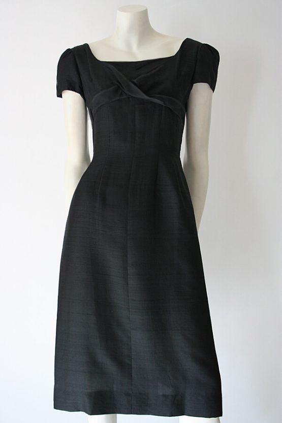 1950s Carlye silk dress