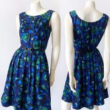 1950s abstract patterned dress