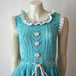 1960s hand-crocheted dress