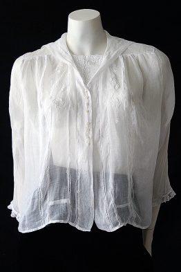 Edwardian cotton voile blouse